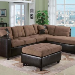 Acme Sectional Sofa Chocolate Living Room With Red Leather Saddle Finish Set Milano By Ac51330set