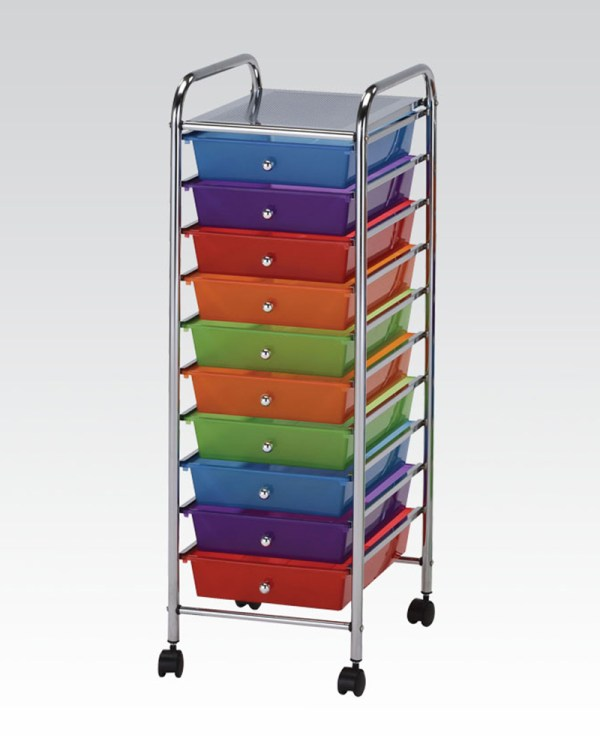 Storage Cart With 10 Drawers Acme Furniture Ac92102