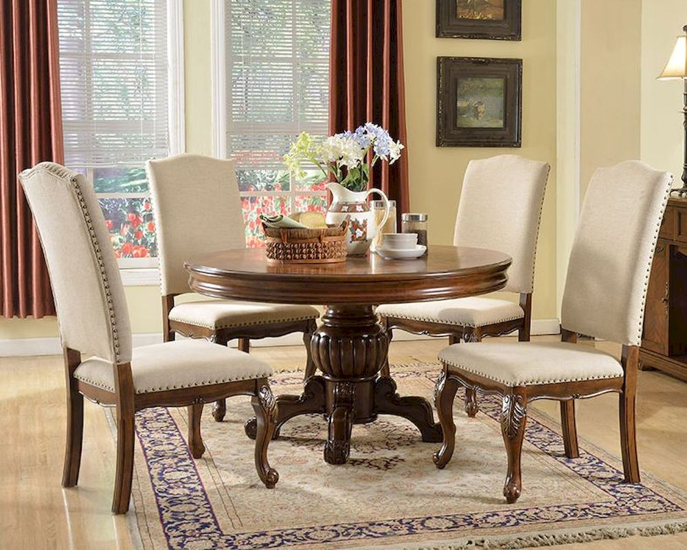 Traditional Style Set W Round Dining Table Mcfd3000 R