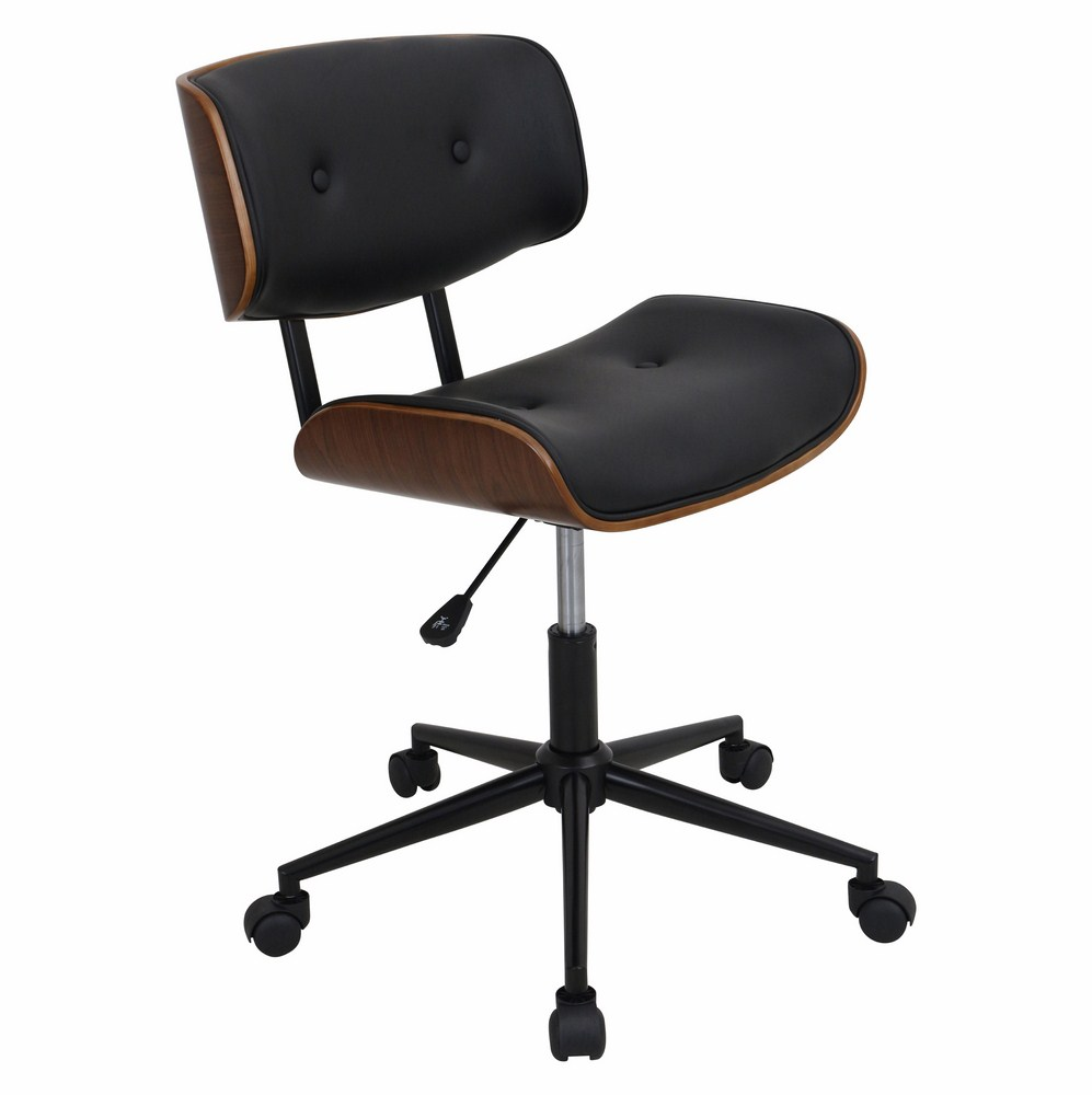 modern drafting chair walmart wheel chairs lumisource lombardi height adjustable office mid century counter with swivel in walnut and black