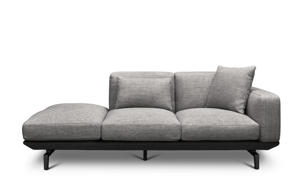 room and board metro sofa with chaise sams bed trendy diamonds rug