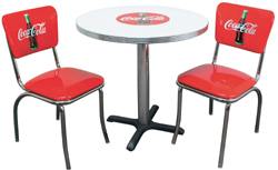 coca cola chairs and tables baby chair bathtub dinette set for 2 americanchairs 2270 11316085