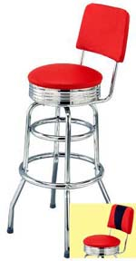 chair stool retro chicco polly high seat back diner bar stools