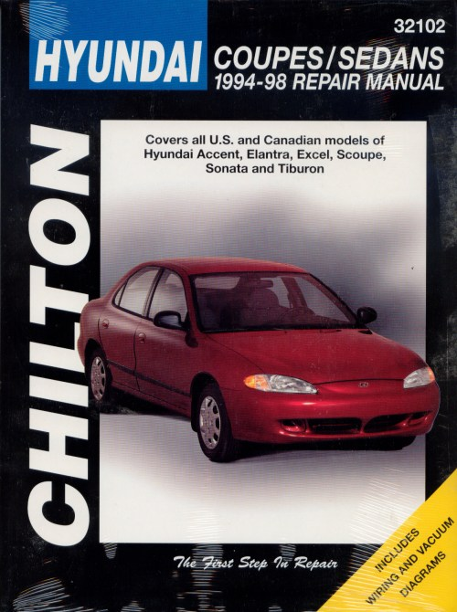 small resolution of hyundai accent elantra excel scoupe sonata tiburon chilton repair manual