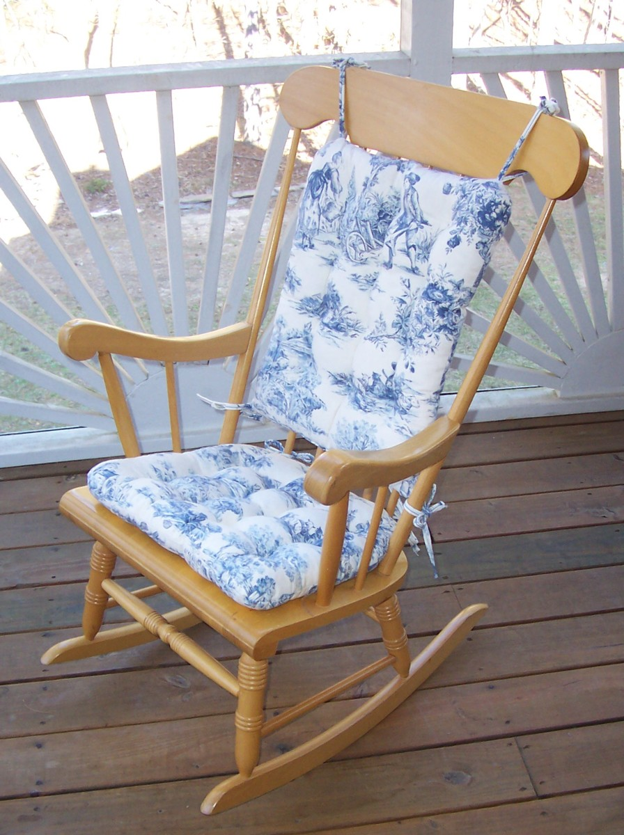 french country kitchen chair cushions desk mat for hardwood floors toile standard size rocking