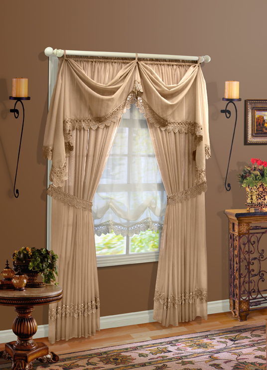 Clairvoile Macrame Sheer Curtains  CLEARANCE