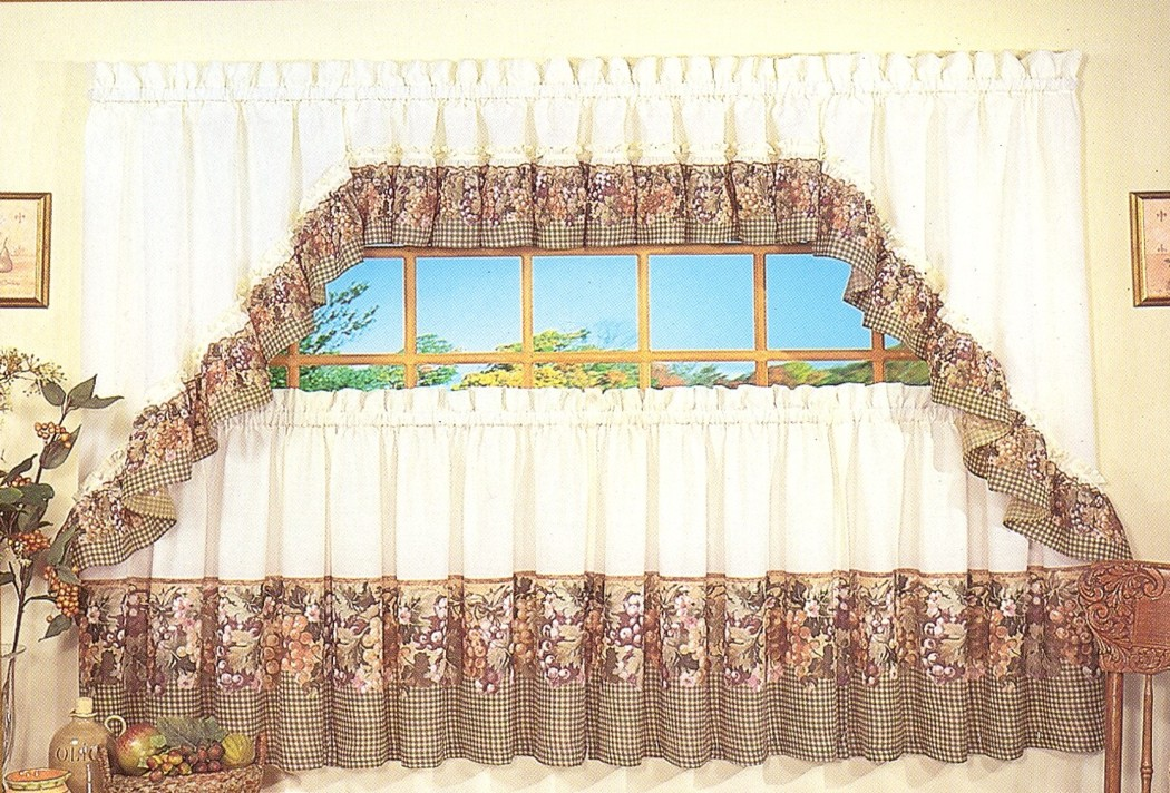 swag kitchen curtains cabinet lights tuscan hills clearance tailored valance