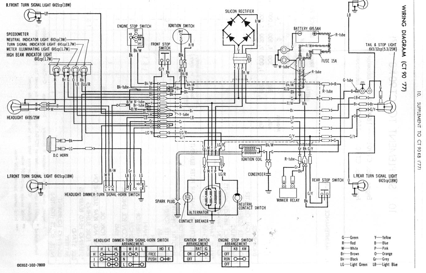 hight resolution of 1978 honda ct90 wiring diagram wiring diagram article review 1978 honda ct90 wiring diagram