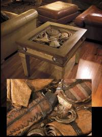 Western End Table by Montana Silversmiths