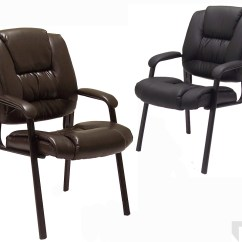 Brown Office Guest Chairs Wooden Kids Chair Deep Cushion Leather In Or Black