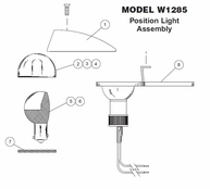 Whelen Model W1285 Position Light Assembly Parts List from