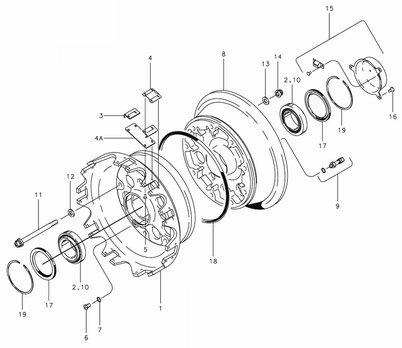 Cleveland 40-202 Wheel Assembly Parts List from SkyGeek.com