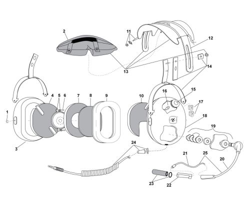 small resolution of david clark h10 13h headset parts list