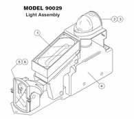 Whelen Model 90029 Light Assembly Parts List from SkyGeek.com