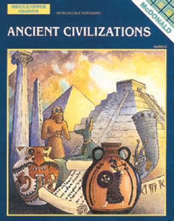 Ancient Civilizations Grade 6-9 by McDonald Publishing (Mc-R540) - Cultural Awareness Books. Bulletin Board Sets History Timelines for the classroom