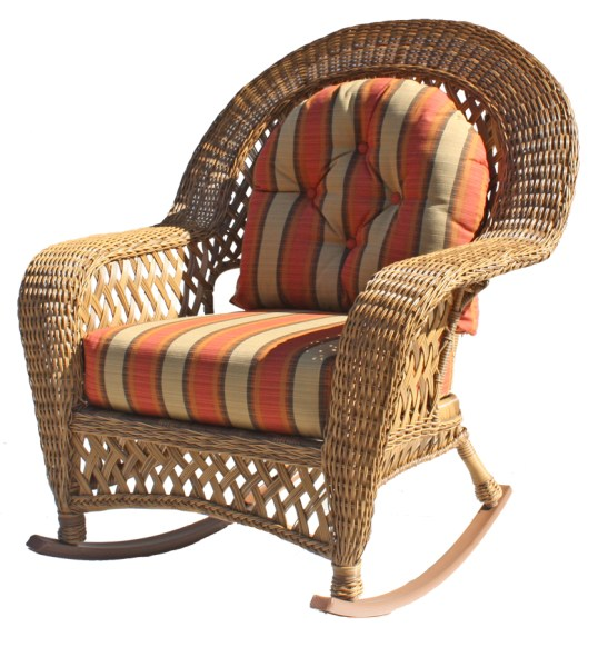 outdoor wicker furniture cushions for chairs Outdoor Wicker Rocker: Montauk Collection