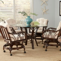 Kitchen Table And Chairs With Wheels Memory Foam Chair Cushion Target Rattan Swivel Dining Set