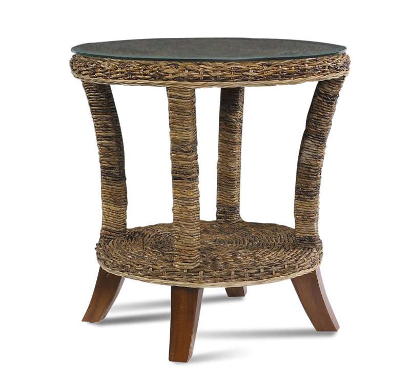 Seagrass End Table  Wicker Paradise