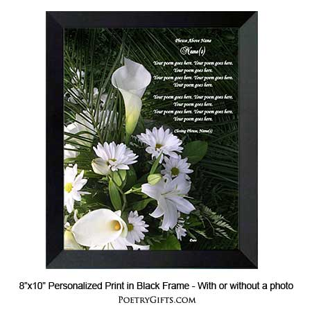 Design Your Poem In Calla Lily Print