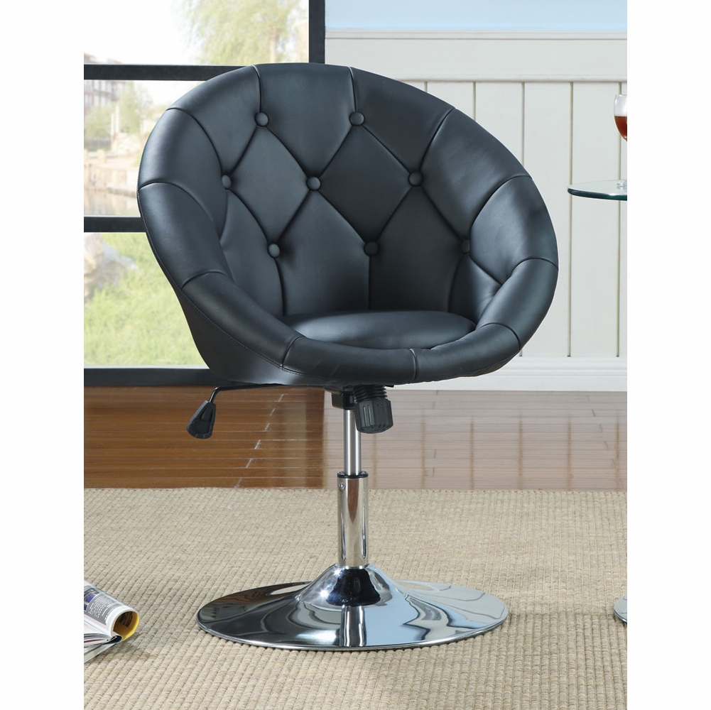 Coaster  Swivel Chair Black  102580
