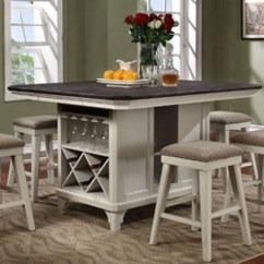Counter Height Chairs Set Of 2 Cream Puff Chair Bobs Furniture Avalon - Mystic Cay Kitchen Island D0042n-kib_kit