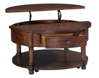 Broyhill - Attic Heirlooms Round Lift Top Coffee Table in ...