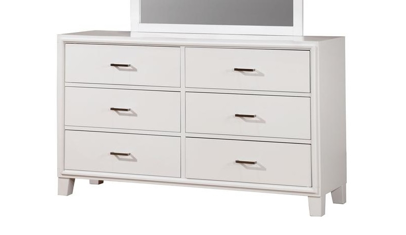 enrico i contemporary white dresser by furniture of america