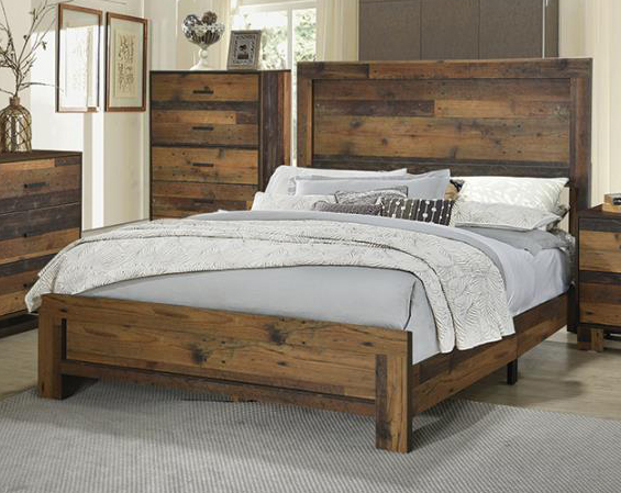 sidney rustic pine wood twin panel bed by coaster