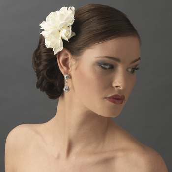 Ivory Gardenia Cluster Bridal Hair Flower On Clip 411 With