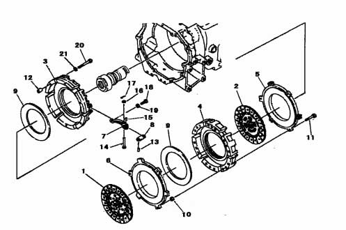 CLUTCH ASSEMBLY FOR 2816 MAHINDRA TRACTOR