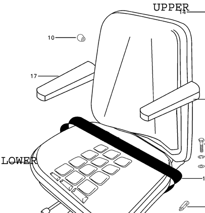 REPLACEMENT LOWER SEAT BOTTOM FOR EARLY 4500 MAHINDRA