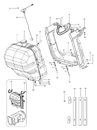 FUEL TANK FLOAT ASSEMBLY FOR 6000 MAHINDRA TRACTOR