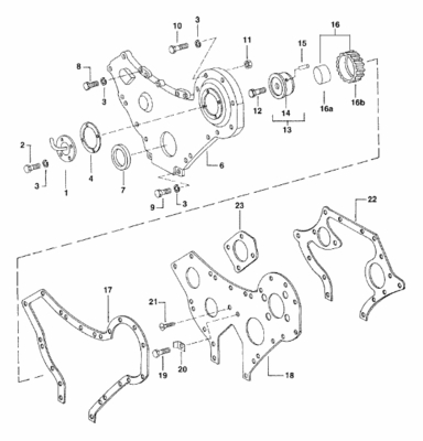 GASKET FOR OUTER FRONT COVER FOR E-350 MAHINDRA TRACTOR