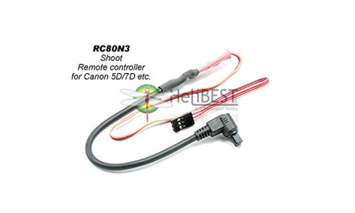 RC80N3 Remotor Controller Shutter Cable for Canon 5D 7D