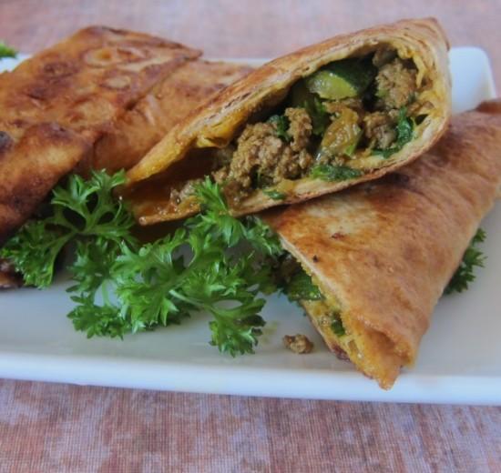 Persian sambooseh beef hand pies
