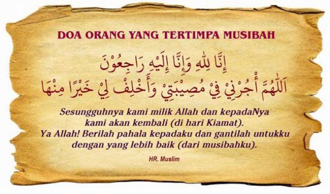 Doa Jika Tertimpa Musibah