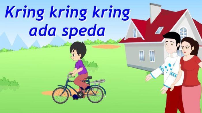 Lagu anak-anak kring kring kring ada sepeda