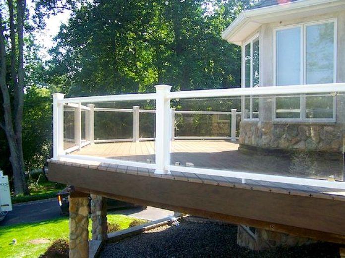 plexiglass railing deck