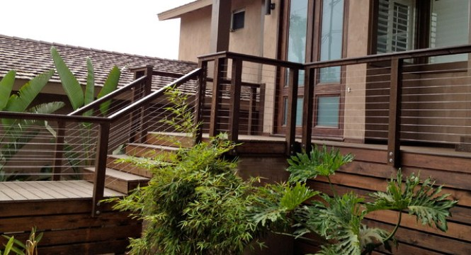 Houzz Modern Porch Railing