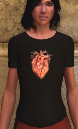 Bleeding heart logo t-shirt, black (F)