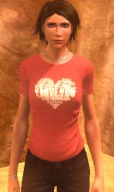 I love you t-shirt, red
