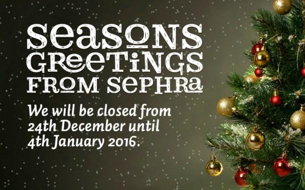 Seasons Greeting from Sephra.