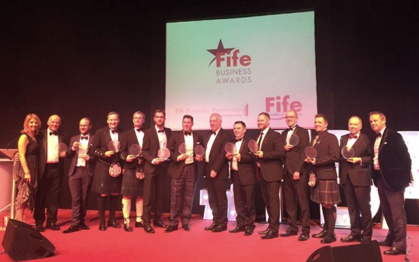 David Archer (5th from right) with Success Through Export Award sponsored by Diageo