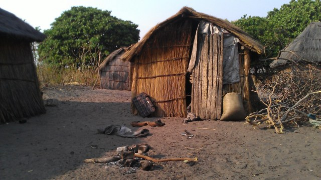 Hut in Zambia village
