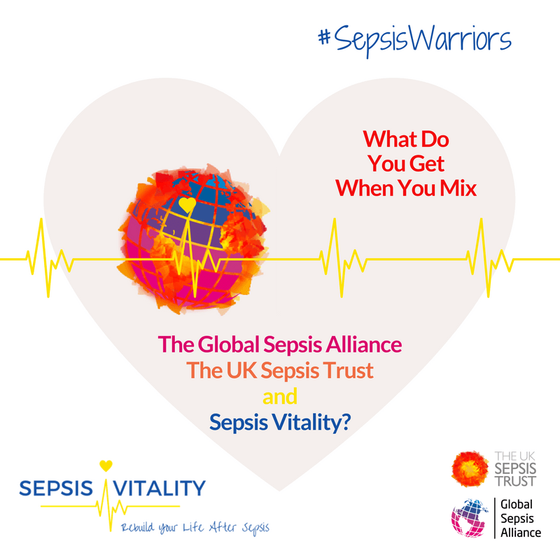 What Do You Get When You Mix The Global Sepsis Alliance, The UK Sepsis Trust And Sepsis Vitality? 3 #SepsisWarriors With Their Fingers On The #Sepsis Pulse!