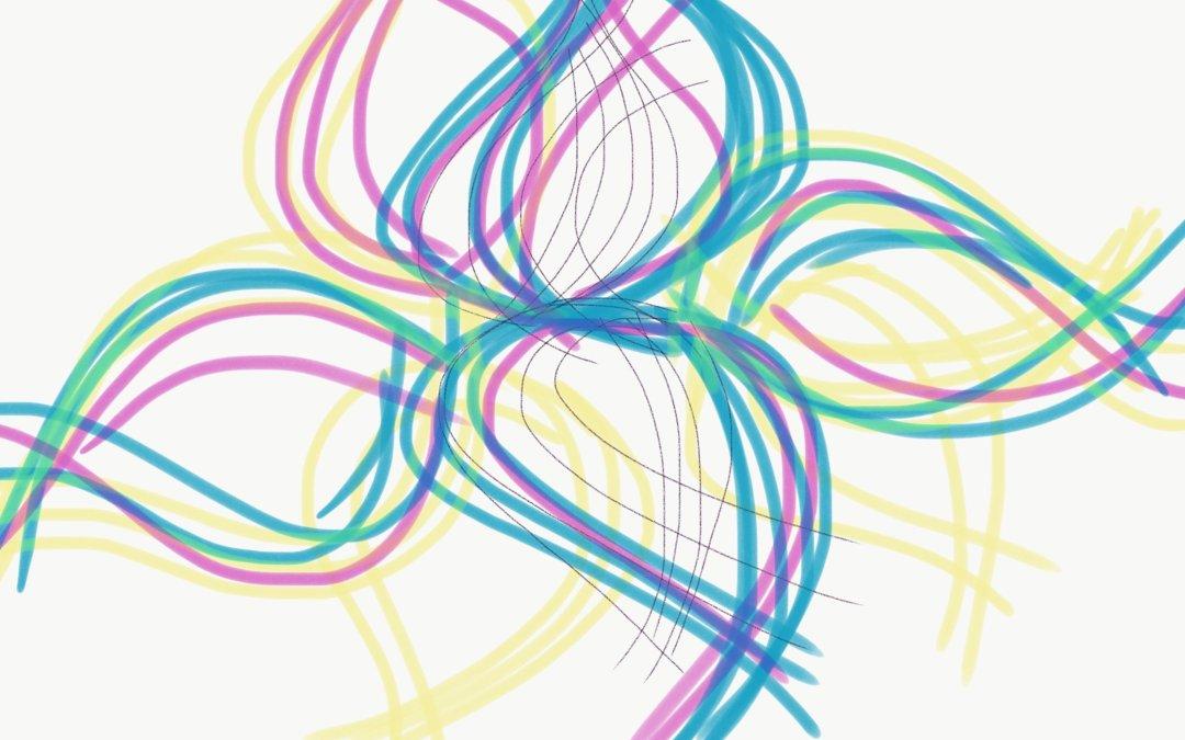 Line Leaf No_8867 Digital Drawing – Sepsis Brain Fog Recovery