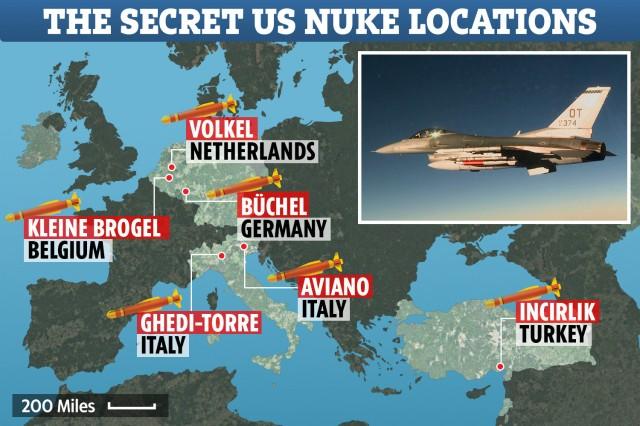 炸锅!加国参议员曝美军在欧洲存放核武的地点