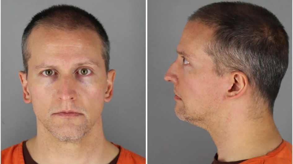 La photo judiciaire de Derek Chauvin, sur laquelle on le voit de face, puis de profil.