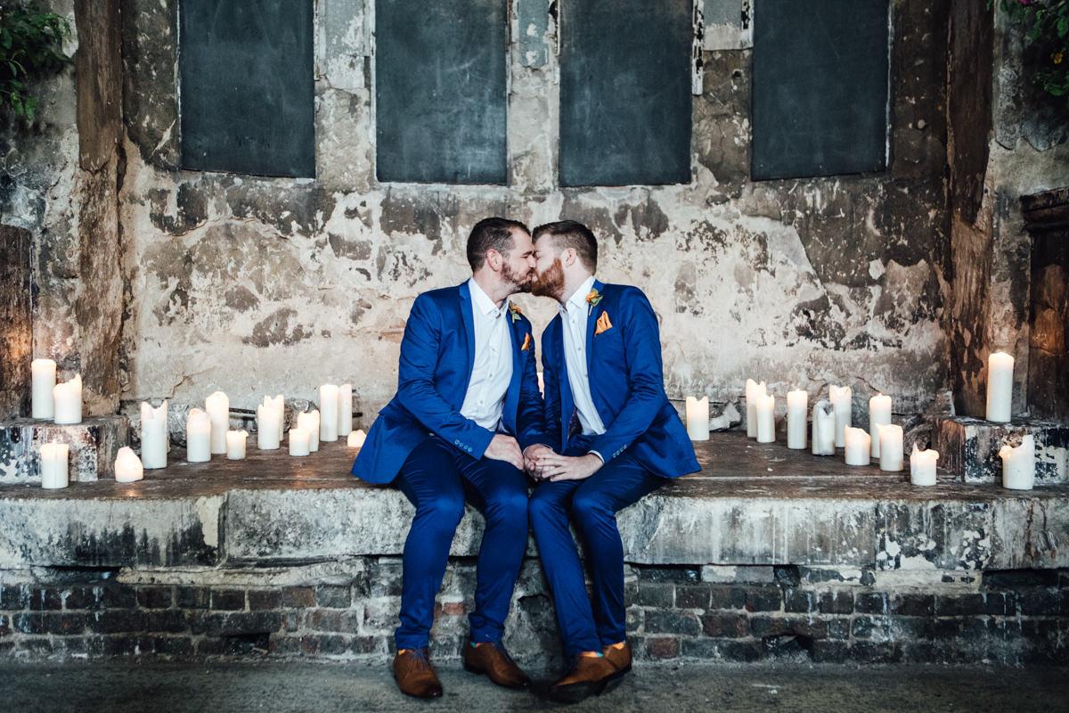 Asylum Chapel wedding photography | London same-sex wedding pictures