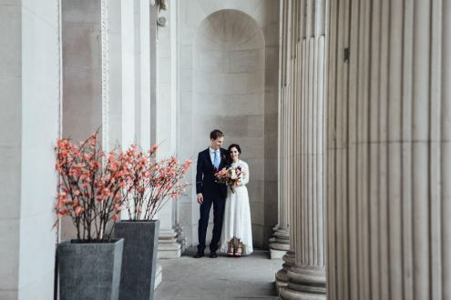 LA + London elopement photography | Registry office wedding photos